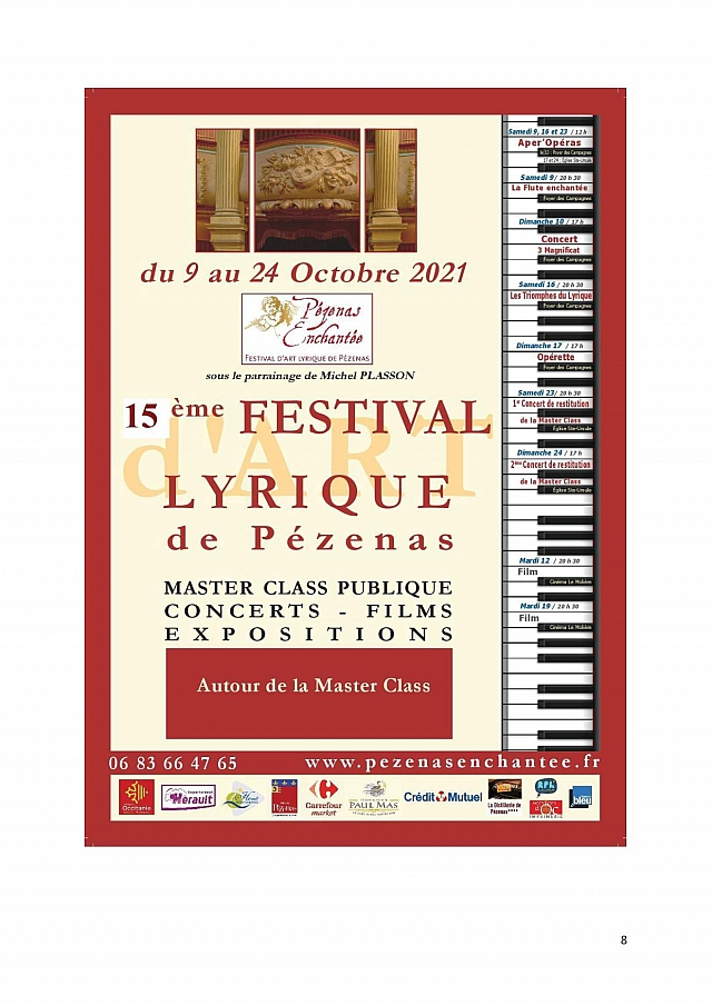 Festival d'Art Lyrique Pézenas Enchantée